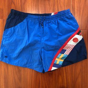 Vintage Speedo swimming trunks Olympic Flags XL